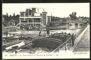AK Arques, Le Canal d'Arques et l'Ascenseur de Fontinette
