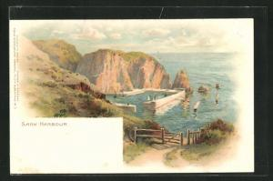 Lithographie Sark, Harbour