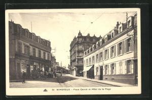 AK Wimereux, Place Carnot et Hotel de la Plage