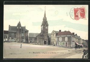 AK Bouloire, L'Eglise et la Mairie, XV siecle