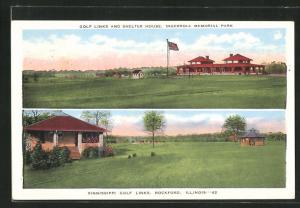 AK Rockford, IL, Golf Links and Shelter House, Ingersoll Memorial Park, Sinnissippi Golf links