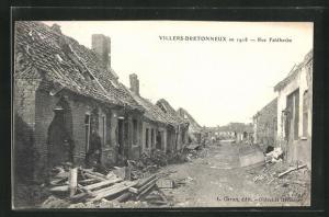 AK Villers-Bretonneux, Rue Faidherbe