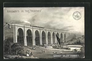 AK Burtonwood, Railways in the Thirties, Sankey Valley Viaduct