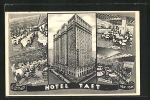 AK New York, NY, Hotel Taft-Lobby, Grill, Tap Room, Coffee Shop