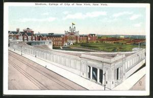 Künstler-AK New York, NY, Stadium of College