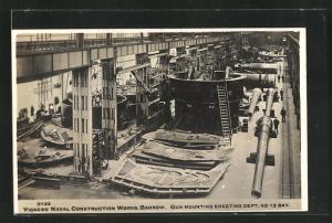 AK Barrow, Vicker's Naval Construction Works, Gun mounting