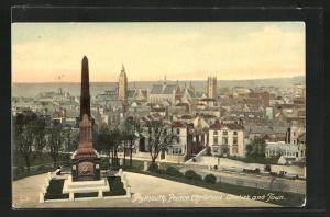 AK Plymouth, Prince Christian Obelisk and Town