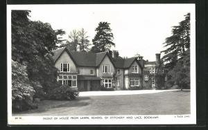 AK Bookham, front of House from Lawn, School of Stitchery and Lace