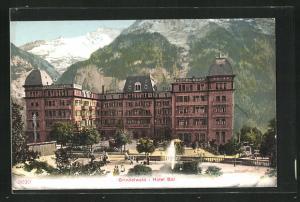 Künstler-AK Grindelwald, Blick auf das Hotel Bär