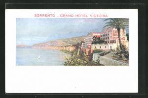 Künstler-AK Sorrento, Grand Hotel Victoria