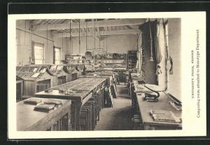 AK Oxford, University Press, composing room attached to Monotype Department