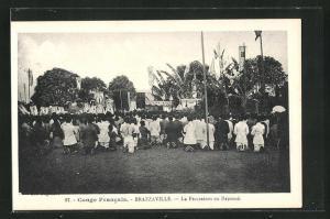 AK Brazzaville, La Procession au Reposoir