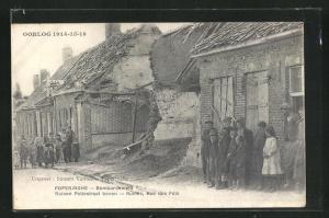 AK Poperinghe, Ruines, Rue des Pots