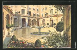 AK Paris, Hotel Plaza-Athénée, Champs-Elysées, Jardin intérieur