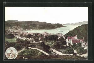 AK Oban, Panoramablick auf die Ortschaft