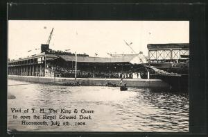 AK Avonmouth, Visit of the King & Queen to open the Royal Edward Dock 1908