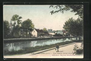 AK Briare, Vue sur le vieux canal