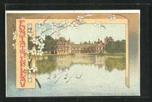 Künstler-AK Fontainebleau, Blick auf das Schloss