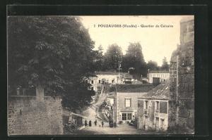 AK Pouzauges, Quartier du Calvaire, Strassenpartie