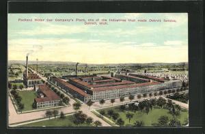 Künstler-AK Detroit, MI, Packard Motor Car Company`s Plant