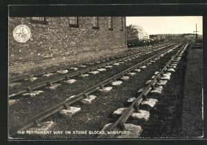 AK Winsford, Old permanent way on Stone Blocks