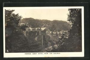 AK Furness, Furness Abbey Hotel, from the Railway