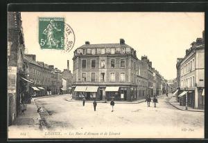 AK Lisieux, Les Rues d`Alencon et de Livarot
