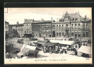 AK Saint-Flour, La Place et le Marche