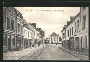 AK Estaires, Rue du Rivage, Strassenpartie