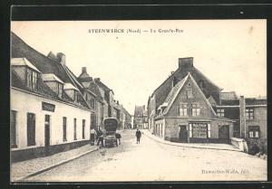 AK Steenwerck, La Grande-Rue, Strassenpartie