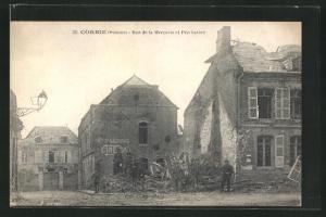 AK Corbie, Rue de la Mercerie et Presbytére
