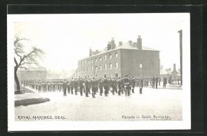AK Deal, Royal Marines, Parade in South Barracks