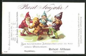 AK Magdeburg, Cigarrenfabrik Robert Althaus, Tanzende Zwerge