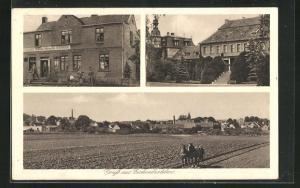 AK Eichenbarleben, Tapezierer und Dekorateur Wilhelm Wernecke, Blick über Äcker auf den Ort