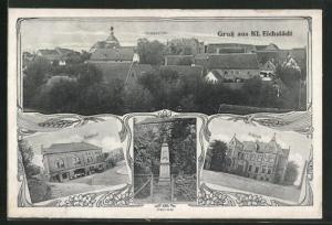 AK Klein Eichstädt, Gasthof, Schloss, Denkmal