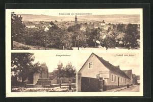 AK Rothenschirmbach, Gasthof zum Anker, Kriegerdenkmal
