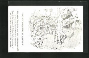 AK The Children`s Companion, The Boy Followers of Garribaldi, italienischer Unabhängigkeitskrieg, Monatszeitschrift