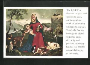 AK The R.S.P.C.A. depends on gifts and legacies..., Tierschutz, Madonna
