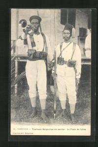 AK Tamatave, Tirailleurs Malgaches de service, le Poste de Police