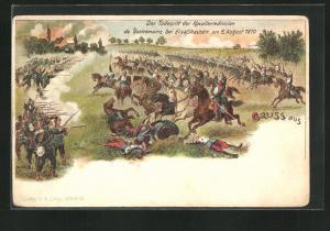 AK Elsasshausen, Todesritt der Kavalleriedivision de Bonnemains, 1870, Reichseinigungskriege