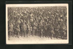 AK Austrialia, Australians parading for the trenches