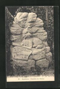 AK Asnières, Cimetière des Chiens, Hunde-Friedhof