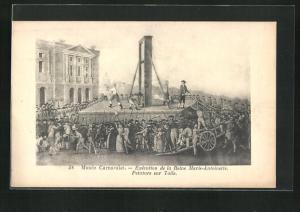 AK Exécution de la Reine Marie-Antoinette