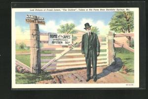 AK Excelsior Springs, Mo., Last Picture of Frank James, The Outlaw, taken at his Farm