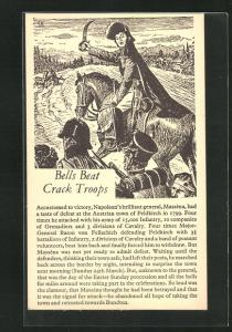 AK Befreiungskriege, Bells Beat Crack Troops, Soldat auf Pferd mit Krummsäbel führt Truppe an