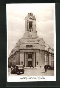 AK London, Great Queen Street, The New Masonic Temple, Freimaurer