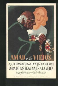 AK Caja de Pensiones para la Vejez y de Ahorros, Obra de los homenajes a la Vejez, Amad a los Viejos, Alter Mann, Bank