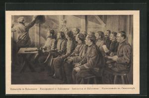 AK Wagenfeld, Kriegsgefangene beim Unterricht in Hakenmoor