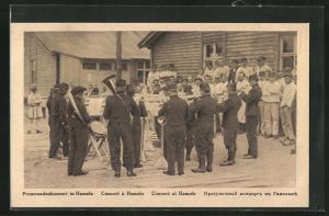AK Hameln, Kriegsgefangene beim Musizieren, Promenadenkonzert