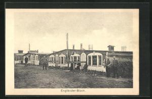 AK Sprottau, Kriegsgefangene, Engländer-Block, Allied POW Camp